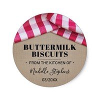 Rustic Country Food Stickers | From The Kitchen of