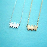 Dear Cat Woman, Batman Necklace, Gold/Silver