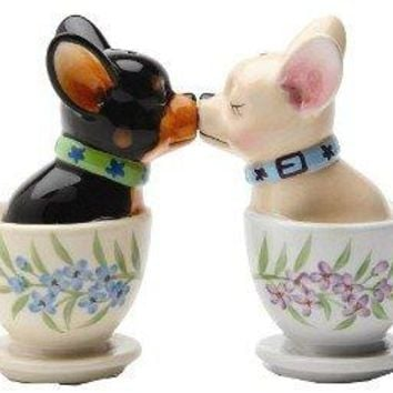 Teacup Chihuahua Salt and Pepper Shaker SET