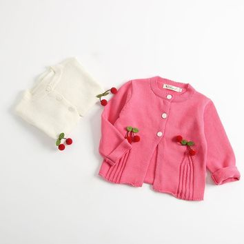Baby Girls Sweaters 2018 New Infant Clothes Sping Autumn Girls Knit Cardigans Cotton Toddler Sweater Jacket 6M-24M RT001