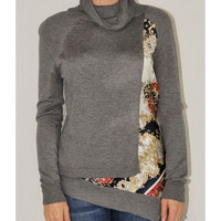 Katherine Barclay grey print top