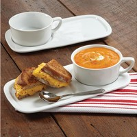 Set of 2 Soup Bowls and Sandwich Plates by CHEFS at Cooking.com