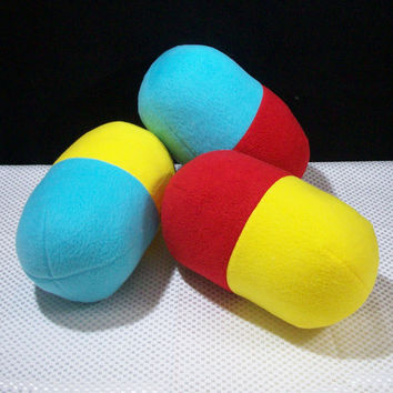 Dr Mario Pill Pillows Set of 3 by TheRoadstownCrafts on Etsy