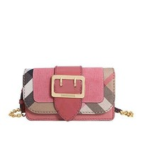 Burberry Mini Buckle Phone Bag- Rose Pink