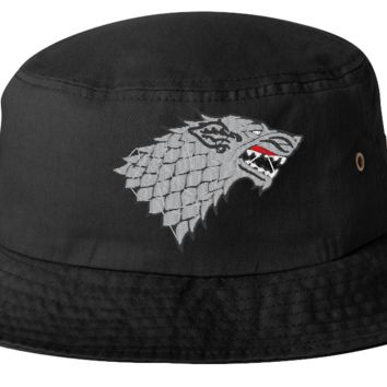 winter is coming stark bucket hat