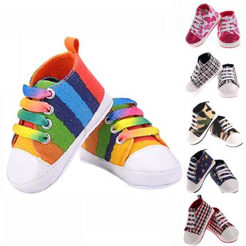 Baby Shoes Kids Sports Sneakers Newborn Bebe Soft Bottom Anti-slip Enfant Canvas Prewa