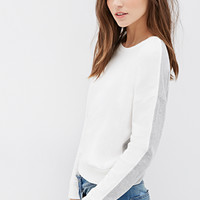 Heathered Colorblock Sweatshirt