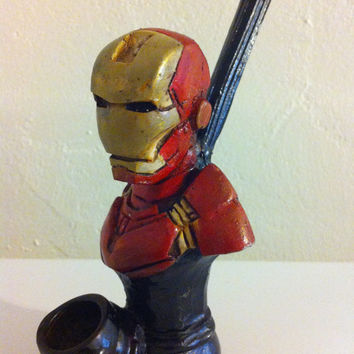 Tobacco Hand Made Pipe, Iron Man