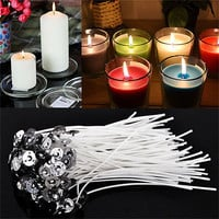 30pcs 4 Inch Candle Wicks Cotton Core Waxed With Sustainers For Candle Making HU