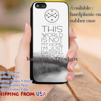 Not My Home Of Mice and Man Lyric iPhone 6s 6 6s+ 5c 5s Cases Samsung Galaxy s5 s6 Edge+ NOTE 5 4 3 #music #omm dl12