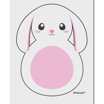 "TooLoud Cute Bunny with Floppy Ears - Pink Aluminum 8 x 12"" Sign"