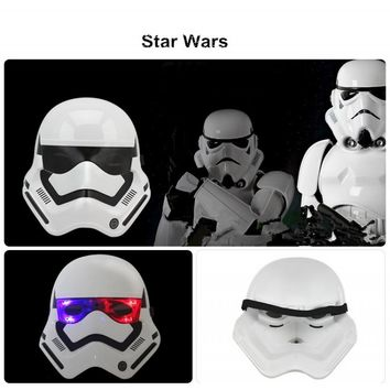 Star Wars Stormtroopers LED Light Mask Helmet Dress Up Costume Halloween Masquerade Party Cosplay White