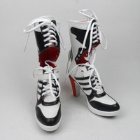 suicide squad harley quinn boots bota accessories black women for harley shoes harley quinn costume cosplay suicide squad