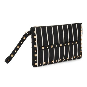 Striped Grab Clutch - View All - New In