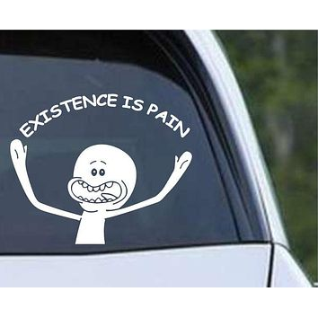 Rick and Morty - Mr Meeseeks - Existence is Pain Die Cut Vinyl Decal Sticker
