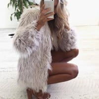 Isabella Faux Fur Full Length Coat