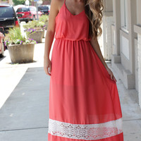Leave Me Speechless Coral Maxi – Dress Up