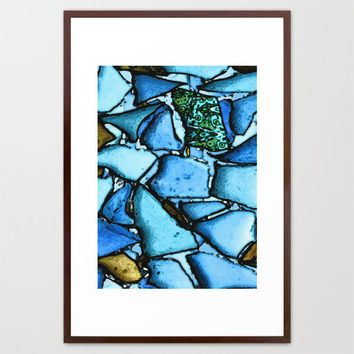 Beach Glass Mosaic Framed Art Print by Ingrid Padilla  | Society6