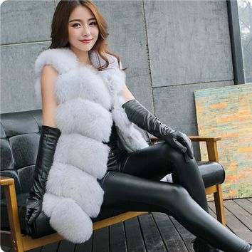 ABYABYGO Faux Fur Vest Autumn Winter Women Female Warm Furry Coat Waistcoat Outwear Colete Feminino Veste Femme Chaleco Mujer