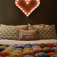 Vintage Marquee Lights - Heart