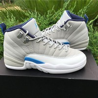 Air Jordan 12 GS Retro Wolf Grey AJ12 Sneakers - Best Deal Online