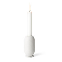 capsule candle holder / white