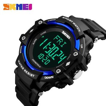 Men Pedometer Monitor Calories Digital Display Watch Outdoor Sports Watches