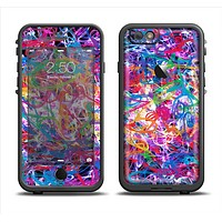 The Neon Overlapping Squiggles Apple iPhone 6 LifeProof Fre Case Skin Set