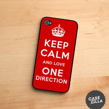 iPhone 5 Case Keep Calm and Love One Direction iPhone 5S Case, iPhone 4/4S Case, iPhone 5C Case