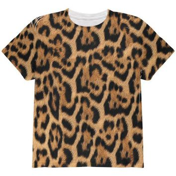 DCCKJY1 Halloween Leopard Print Costume All Over Youth T Shirt