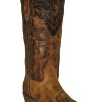 Rawhide by Abilene Boots Women's Two-Tone Wingtip Cowgirl Boots - Snip Toe - Sheplers