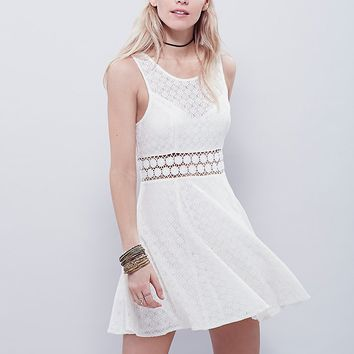 Free People Fitted With Daisies Dress