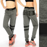 Two Tone BOSS Jogger Pants in S-3X in 3 Colors