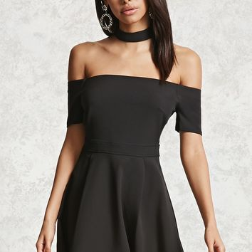 Off-the-Shoulder Choker Dress