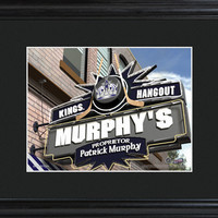 NHL Pub Print in Wood Frame - Kings