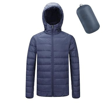 Winter Jacket Men Ultralight Jacket Hooded Bubble Parkas Men Coat Warm Man Winter Coat High quality Male Clothes