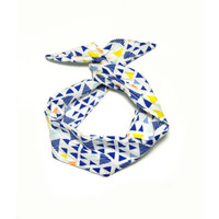 Triangle Geometric Wire Headband Dolly Bow Knot Headband by All Things in Color