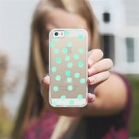 Aqua Dots - Transparent/Clear Backround iPhone 5s case by Lisa Argyropoulos | Casetagram