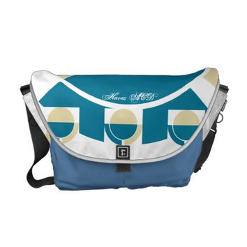 RICKSHAW MESSENGER BAG BLUE GOLD HAVIC ACD