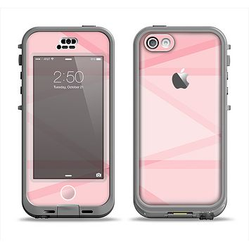 The Subtle Layered Pink Salmon Apple iPhone 5c LifeProof Nuud Case Skin Set