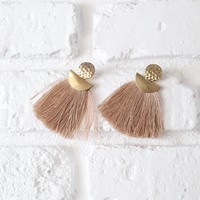 Champagne Fringe Earrings