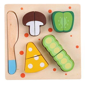 Educational Tools Toys Food Toys For Baby Kids Wooden Long Bean Vegetables Cut Kids Cooking Kitchen Food Pretend Play Toy