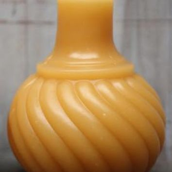Antique Bottle Beeswax Candle Swirl Inkwell