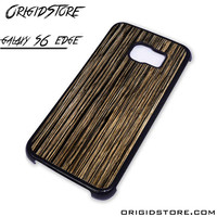 Wood Texture Black Case For Samsung Galaxy S6 Edge Case