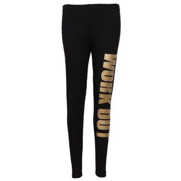 DCCKH6B New Lady Popular Seamless Slim Leggings Letter Print Mid Waist Legging Jeggings 6 colors