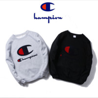 Autumn and winter tide Champion embroidered letters plus cashmere leisure sweater