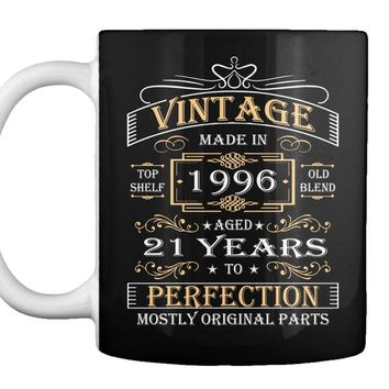 Vintage Age 21 Years 1996 Perfect 21st Birthday Gift