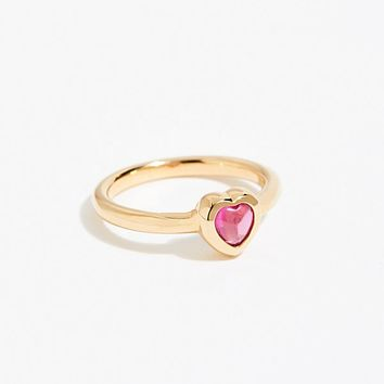 18k Pink Heart Ring