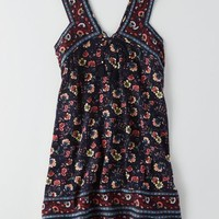 AEO Women's Printed Shift Dress (Navy)