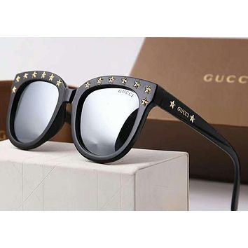 GUCCI Popular Elegant Women Men Rivet Sunglasses Sun Shades Eyeglasses Glasses Couples Style(5-Color) Blue I-A-SDYJ